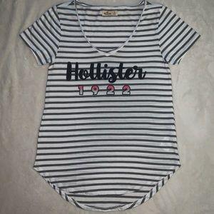 Hollister Graphic, Striped, Short Sleeve Shirt